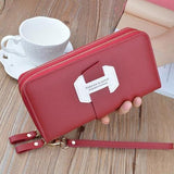 Double Zip Around Wristlet Wallet ERIN The Store Bags Red