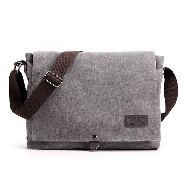 Mens Large Canvas Messenger Bag The Store Bags Gray