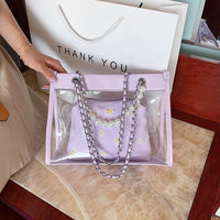 Clear Work Tote Bag ERIN The Store Bags Purple