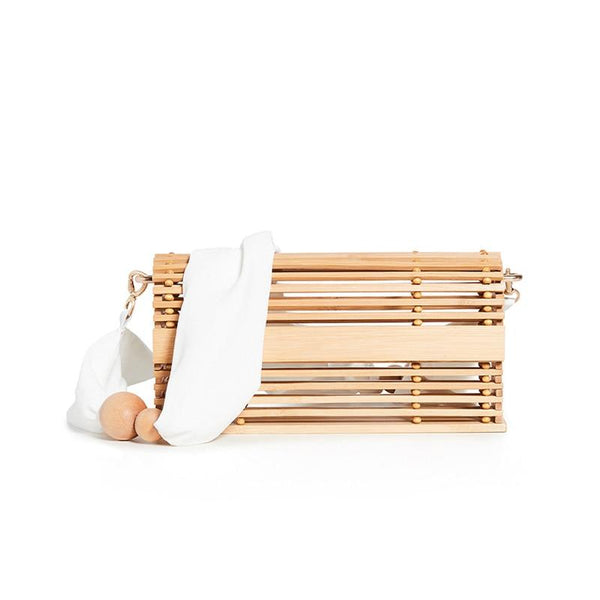 Bamboo Shoulder Bag FUFFY The Store Bags Natural color