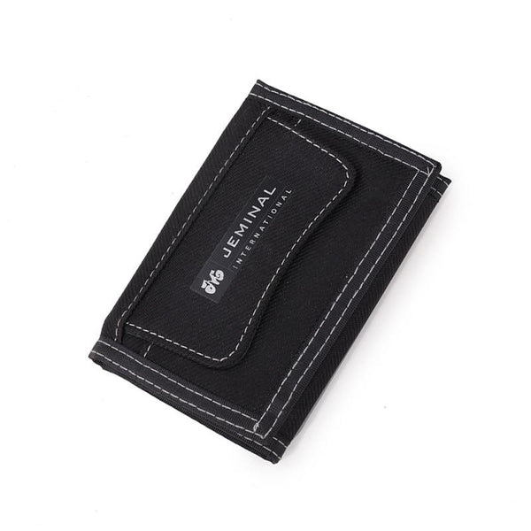 Canvas Trifold Wallet JEMINAL The Store Bags Black