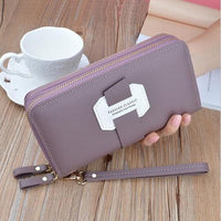 Double Zip Around Wristlet Wallet ERIN The Store Bags Purple