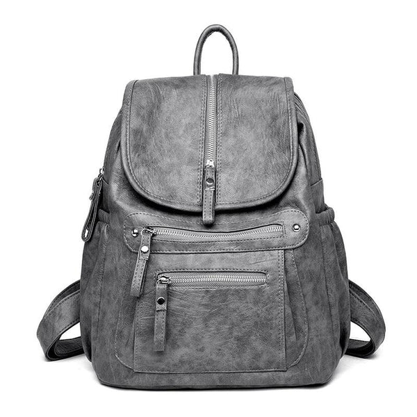 Grey Leather Backpack Womens ERIN The Store Bags Gray