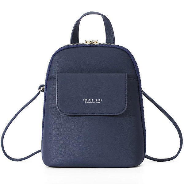 Navy Leather Backpack ERIN The Store Bags Navy