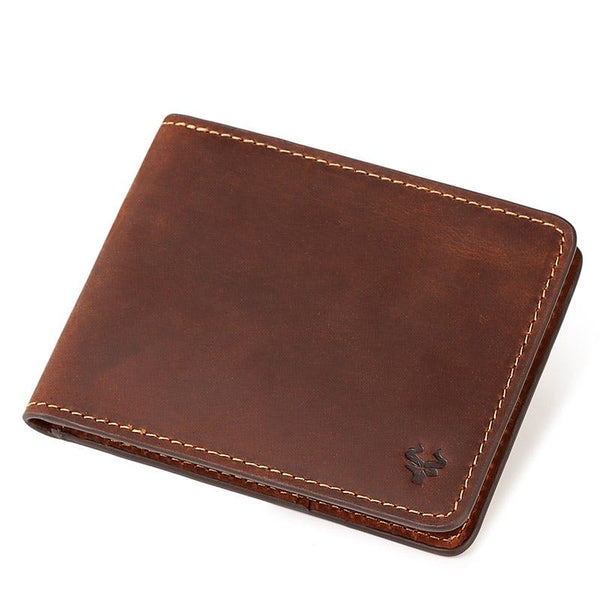 Bifold Wallet With Zipper Coin Pocket The Store Bags Brown China