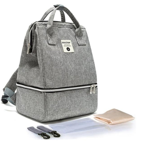INSULAR Baby Diaper Backpack The Store Bags Grey
