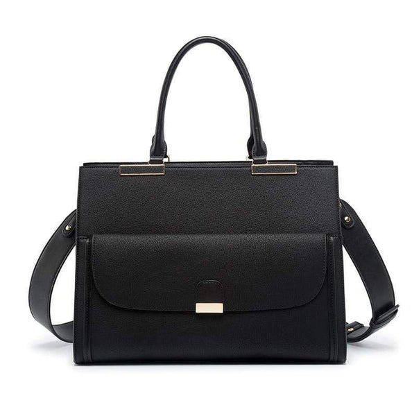 Black Leather Laptop Tote KINMAC The Store Bags