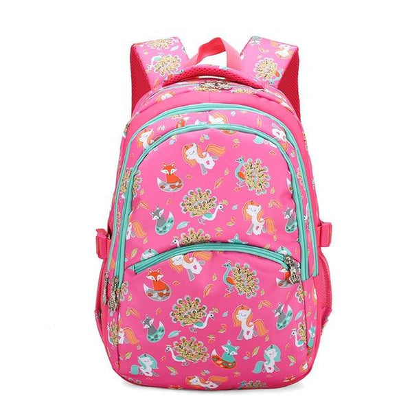 School Backpack With Animals KOKO The Store Bags Rose Red