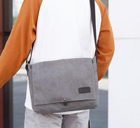 Mens Large Canvas Messenger Bag The Store Bags