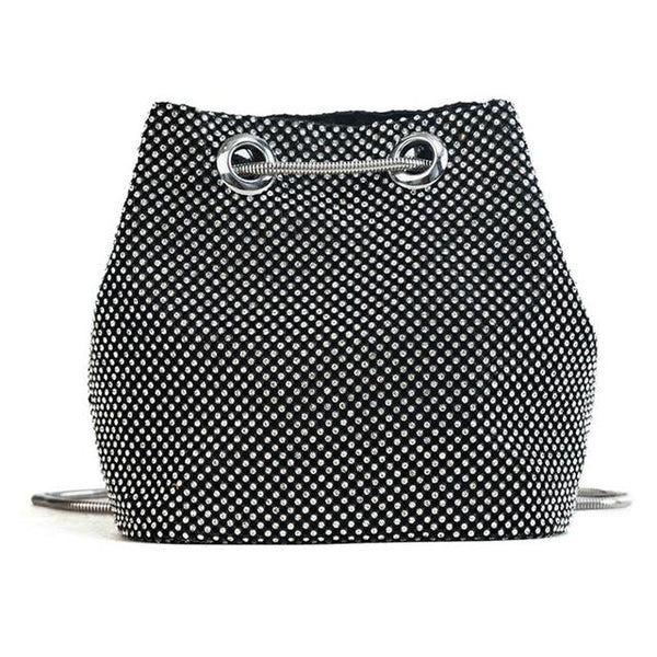 L&M Rhinestone Bucket Bag The Store Bags Black
