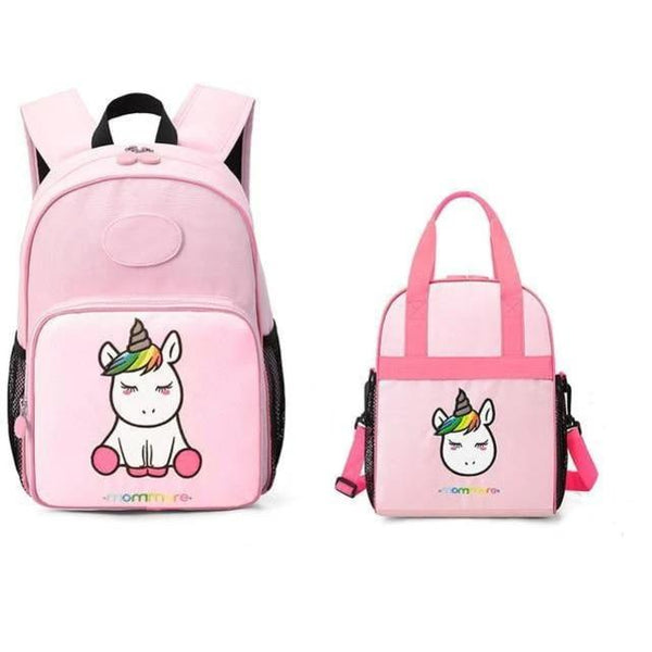 Kindergarten Backpack With Lunch Bag MOMMORE The Store Bags Pink