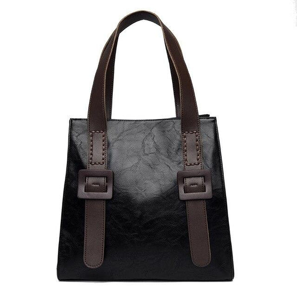PRICILA Casual Faux Leather Bag The Store Bags Black