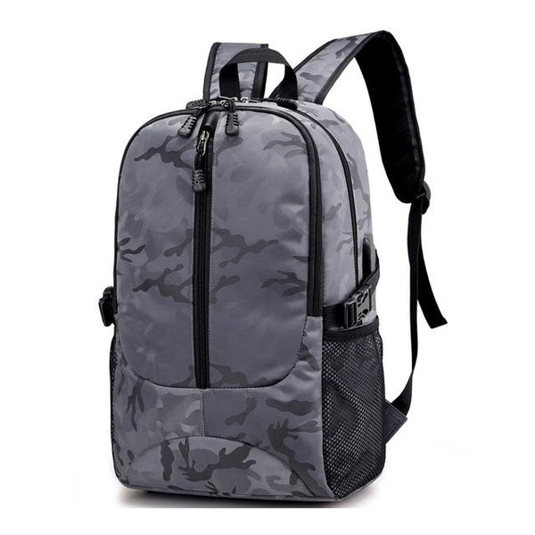 Camouflage College Student Backpack The Store Bags Gray