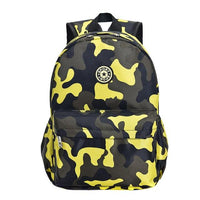 Camo Backpack For Kindergarten SPORK The Store Bags Yellow