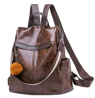 TSB High Quality Leather Anti Theft Bag The Store Bags Brown