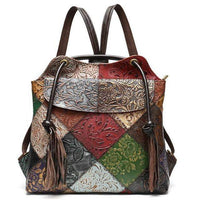 TSB Patchwork Leather Backpack The Store Bags