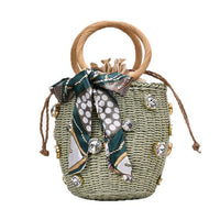 TSB Sentimental Bucket Straw Bag The Store Bags