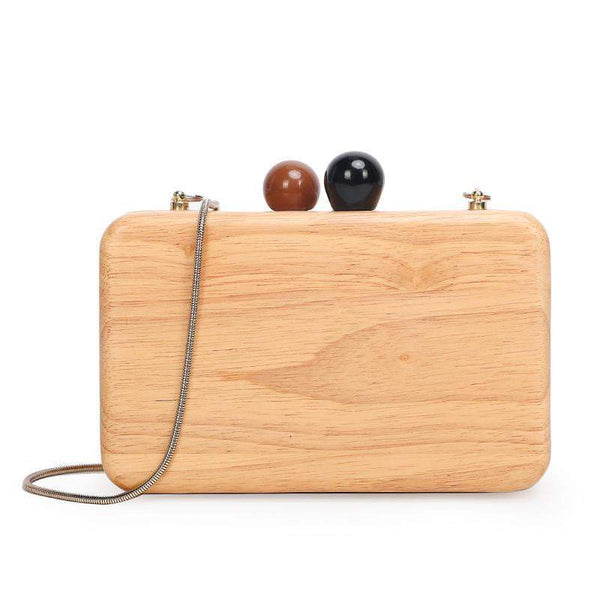 TSB Women's Wood Clutch Bag The Store Bags