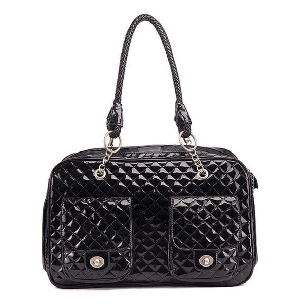 WAFWAF Leather Pet Carrier The Store Bags Black