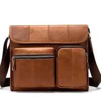 WESTAL Male Leather Messenger Bag The Store Bags Brown