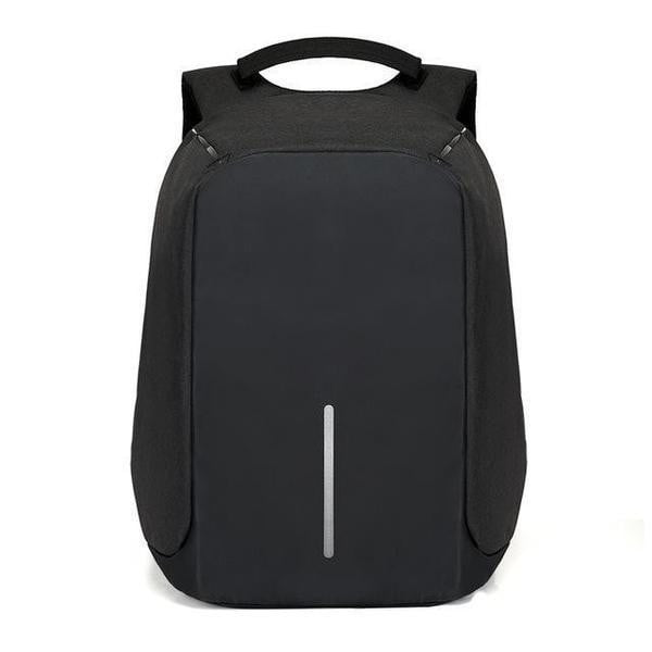 TSB Anti Theft Backpack With Charger - Black - The Store Bags