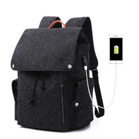 REO Laptop USB Backpack The Store Bags Black