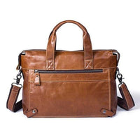 LAORENTOU Document Bag Leather The Store Bags red brown