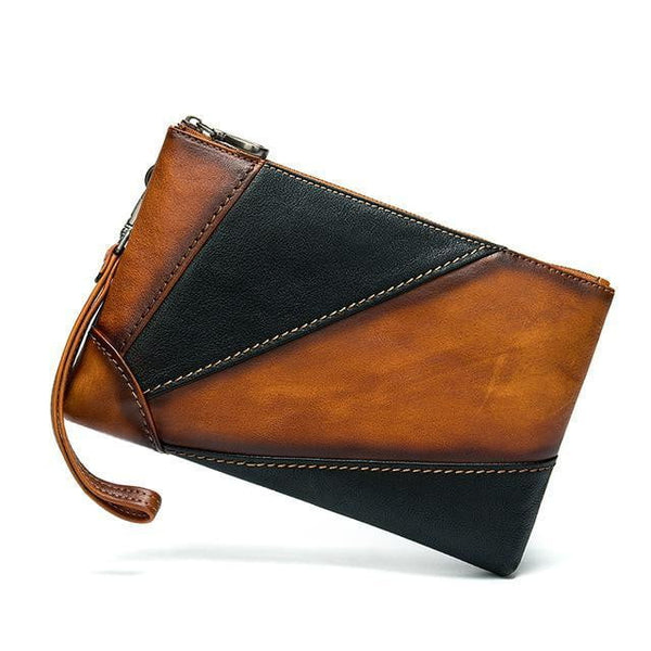 WESTAL Genuine Leather Clutch Wallet The Store Bags Brown