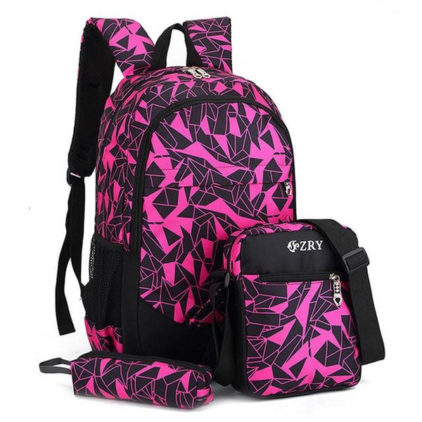 ZRY Elementary School Backpack The Store Bags Rose Red