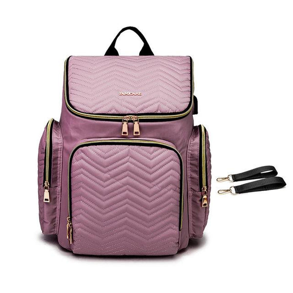TSB USB Diaper Backpack The Store Bags Purple