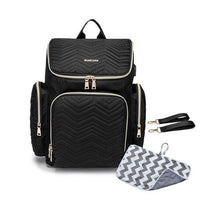 TSB USB Diaper Backpack The Store Bags Black With Mat