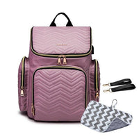 TSB USB Diaper Backpack The Store Bags Purple With Mat