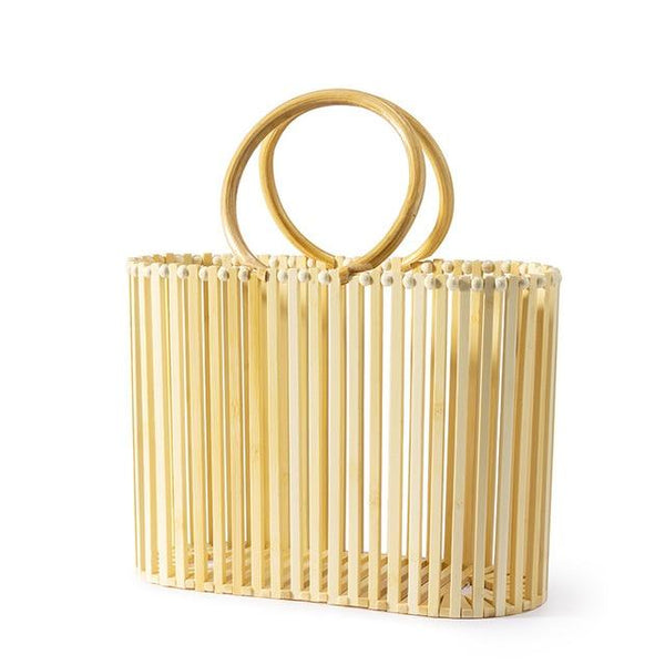 LOVELLY Women Bamboo Bucket Bag The Store Bags