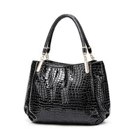 TSB Alligator Casual Tote Shoulder Bag The Store Bags Black