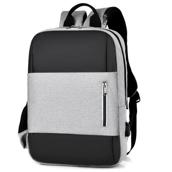 RELI Laptop USB Backpack The Store Bags Gray