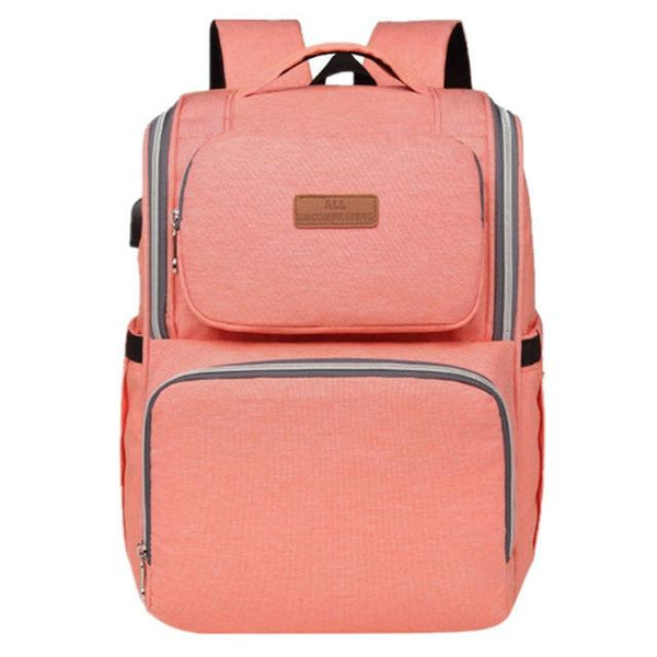 INSULAR Diaper Bag Travel Backpack The Store Bags Orange Pink