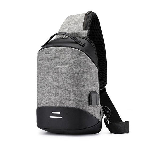 PEEKS ROBOT USB Sling Bag The Store Bags Grey