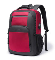 BANGE Professional USB Backpack The Store Bags Red