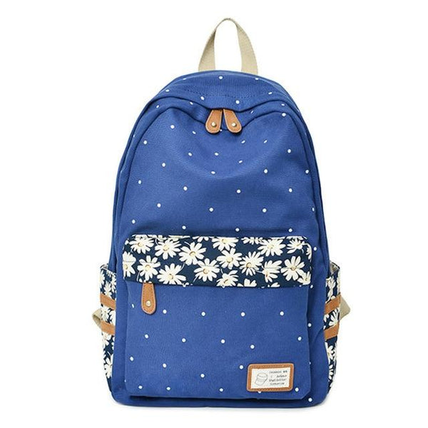 RUIPAI Floral School Backpack The Store Bags Deep Blue