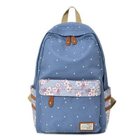 RUIPAI Floral Elementary Backpack The Store Bags Blue