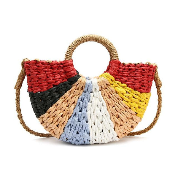 Straw Bag Summer OHO The Store Bags Colorful small