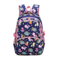 School Backpack With Animals KOKO - Blue