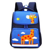 BANS Elementary Student Backpack The Store Bags Blue giraffe