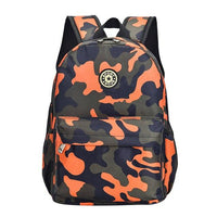 SPORK Camouflage Kindergarten Backpack The Store Bags Orange