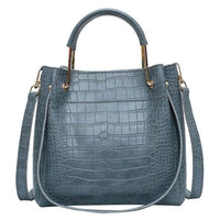 PU Leather Tote Bag The Store Bags Blue