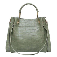 PU Leather Tote Bag The Store Bags Green
