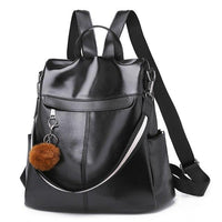 TSB High Quality Leather Anti Theft Bag The Store Bags Black