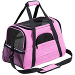 WAFWAF 2-in-1 Oxford Pet Carrier The Store Bags Pink M(44.5x25x28cm)