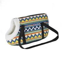 WOOFY HAPPY Pet Carrier The Store Bags with fur S 40 x 18 x 20 CM