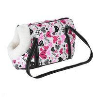 WOOFY HAPPY Pet Carrier The Store Bags with fur 4 S 40 x 18 x 20 CM